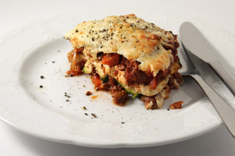 vegetarische Low Carb Lasagne